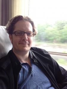 Autor im Zug