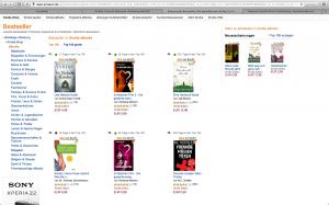 Kindle Charts Platz 42 und 45