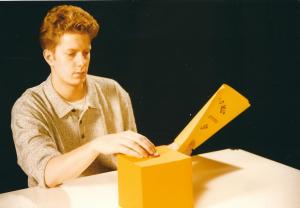 1996 Filmstudium in Ludwigsburg - Standfoto meines ersten Kurzfilms mit mir selbst in der Hauptrolle
